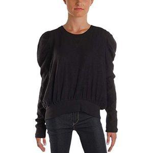 Free People puff shoulder sweatshirt size s